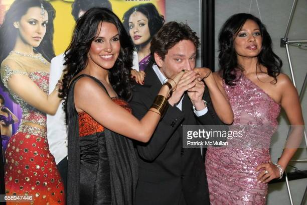 Pooja Kumar, Chris Kattan and Neha Dhupia attend New York Premiere of IFC's BOLLYWOOD HERO at The Rubin Museum of Art on August 4, 2009 in New York.
