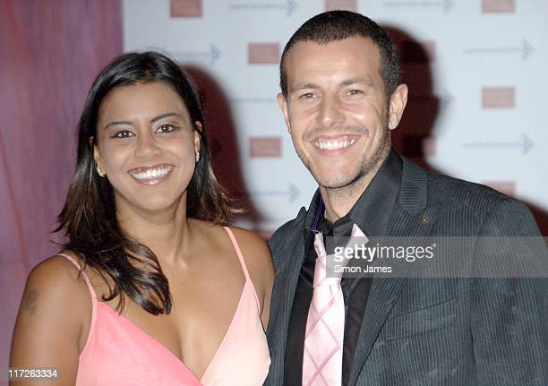 Poojah Shah and Lee Latchford Evans during A Touch Of Pink VIP Fundraising Party at Madame Tussauds in London Great Britain