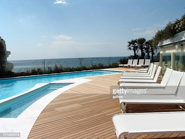 pool and deck chairs
