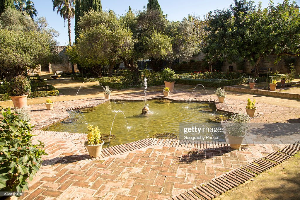 fountains for gardens. Pool And Water Fountains Gardens In The Alcazar, Jerez De La Frontera, Spain. For