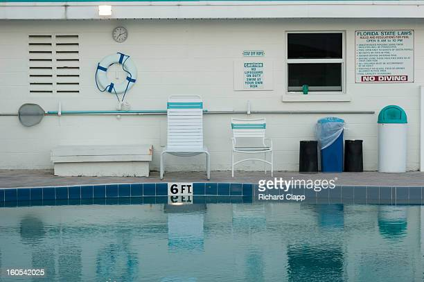 Pool at Siesta Royale on Siesta Key in Sarasota, FL. This is a 50's motel that has been changed to condos.