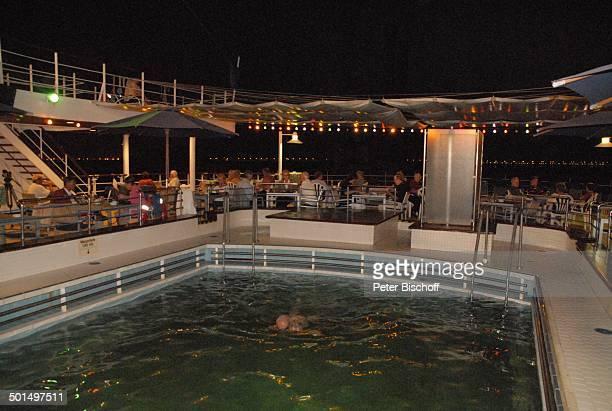 """Pool auf Sonnendeck bei Nacht, Kreuzfahrtschiff MS """"Astoria"""", Asien, Schiff, Reise, BB, DIG; P.-Nr.: 603/2008, ;"""