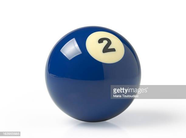 pool ball - number 2 stock pictures, royalty-free photos & images