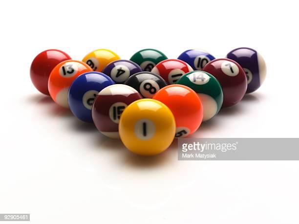 pool balls - poolbillard billard stock-fotos und bilder