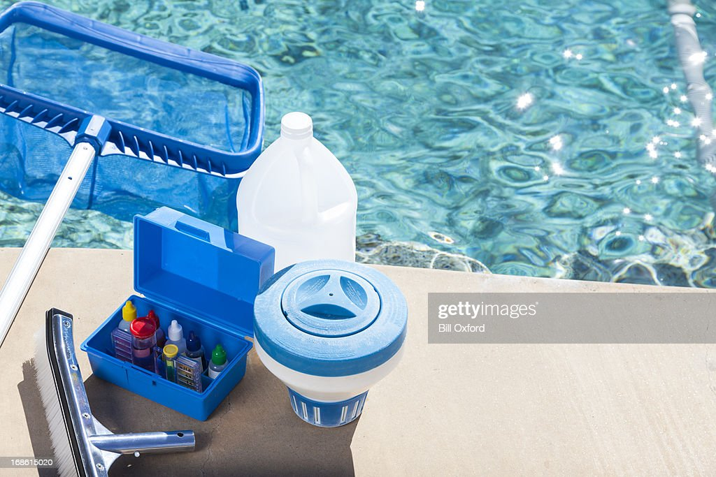 Pool Chemistry Testing : Stock Photo