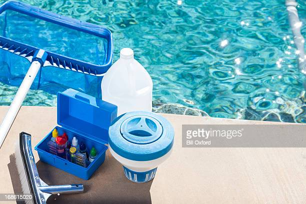pool chemistry testing - commercial cleaning stock photos and pictures