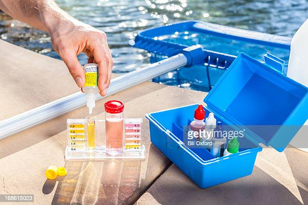 pool chemistry testing - ph value stock pictures, royalty-free photos & images