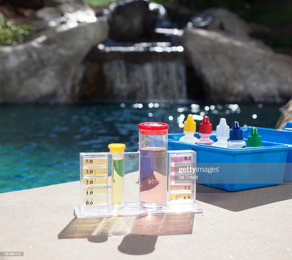 Pool Chemistry Testing : Stock Photo