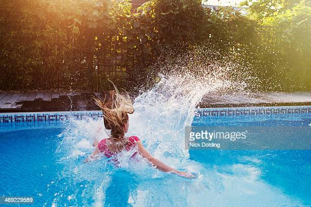 pool fun 03 - splashing stock pictures, royalty-free photos & images