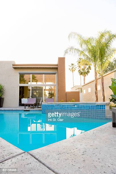 Pool in Backyard of House