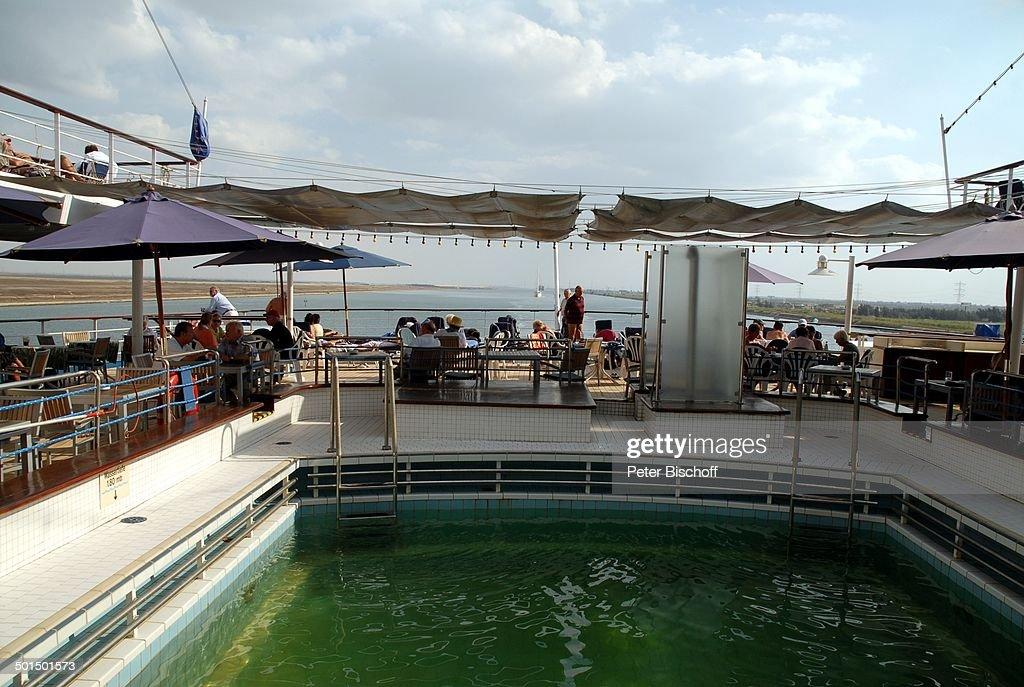 "Pool, Kreuzfahrtschiff MS ""Astoria"", Suez-Kanal, Ägypten, Afrika, Asien, Schiff, Was : News Photo"