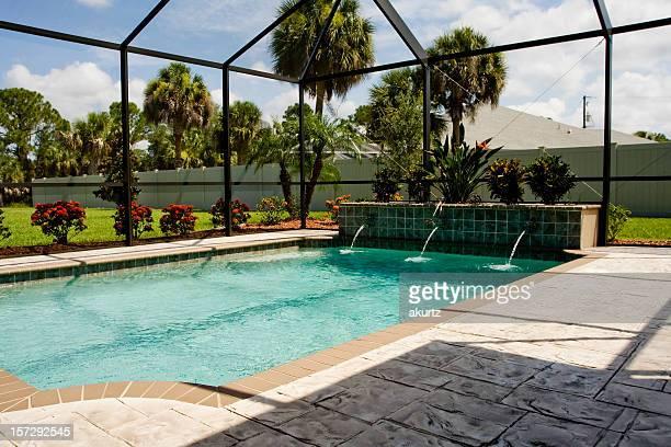 Pool Lanai with screen enclosure