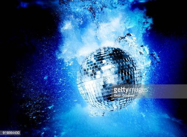 pool party - disco ball stock photos and pictures