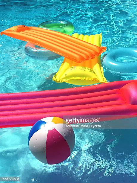 Pool Rafts In Swimming Pool