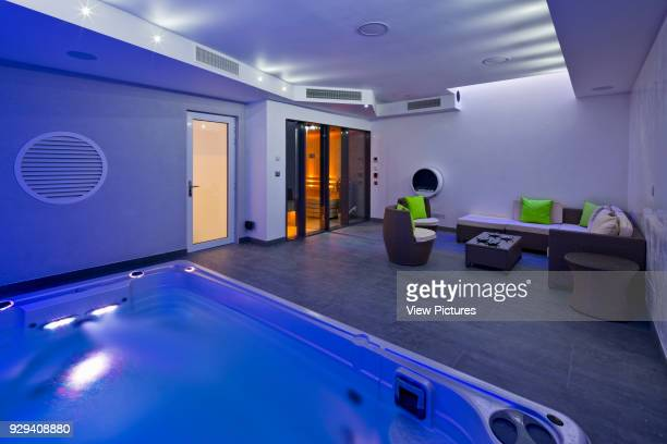 Pool room and spa with feature lighting Mews House Chagford Street London United Kingdom Architect Ayad LTuhafi Architects Ltd 2015
