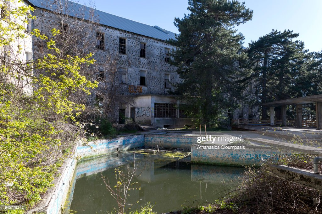 Pool Side At The Abandoned Berengaria Hotel In Troodos Mountains On News Photo Getty Images
