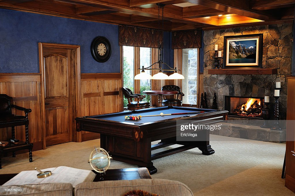 Pool Table In Bonus Room Interior