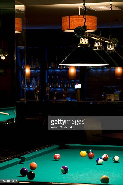Pool Table in Pub in front of the bar