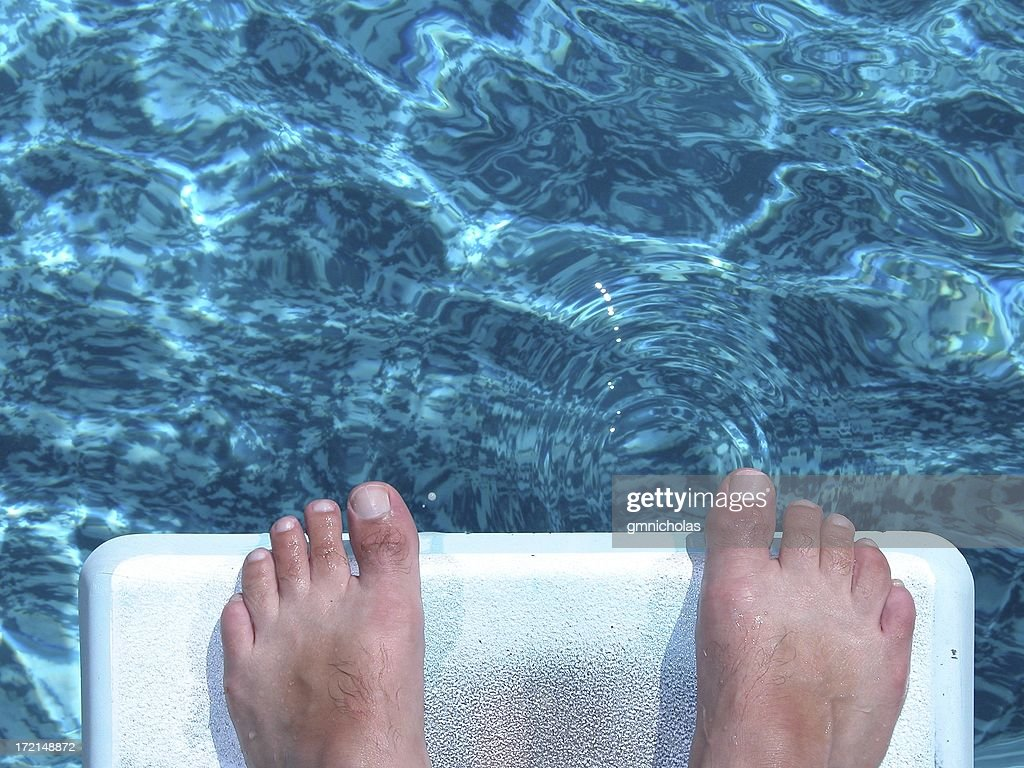 Pool Toes : Stock Photo