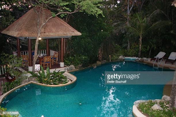 """Pool vom Hotel """"Central Karon Village"""", Karon Beach, Insel Phuket, Thailand, Süd-Ost-Asien, Reise, BB, DIG; P.-Nr.: 386/2005, ;"""