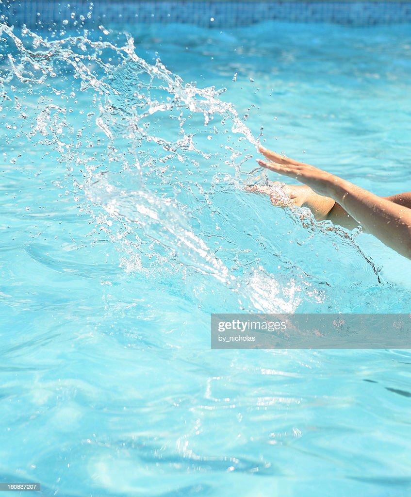 pool water splash. Pool Water Splash : Stock Photo N