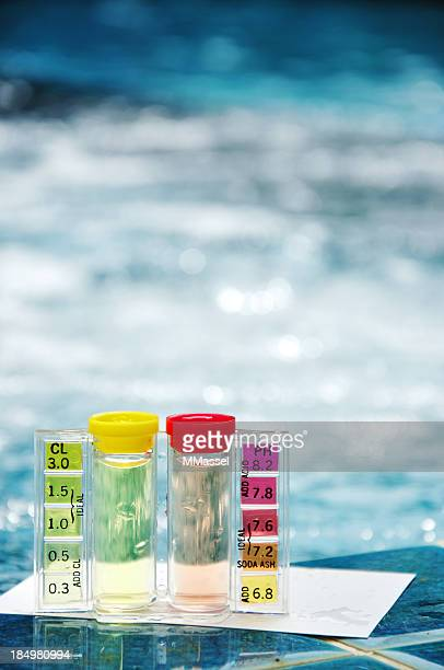 pool water test kit - ph value stock pictures, royalty-free photos & images