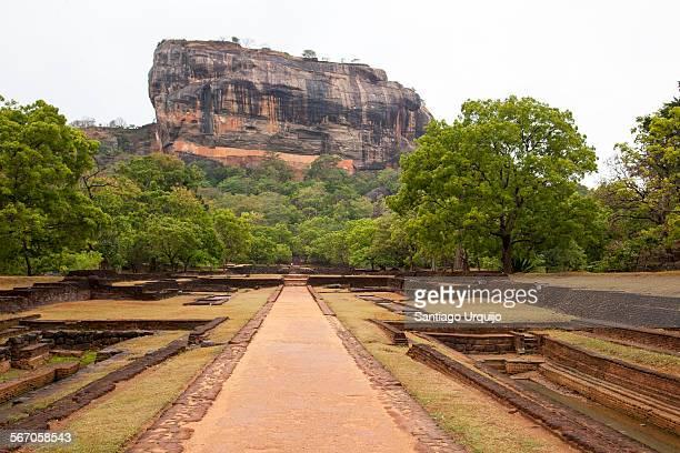 Pools in the garden complex of Sigiriya