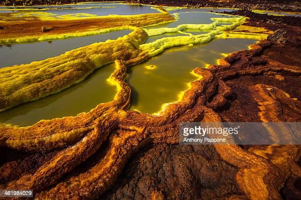 CONTENT] pools of the volcanic acid sulfur in the plain of Dallol Danakil depression ethiopia