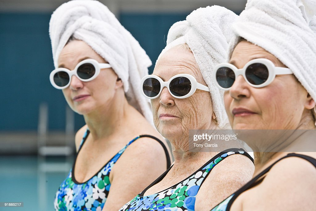 Poolside Ladies : Stock Photo