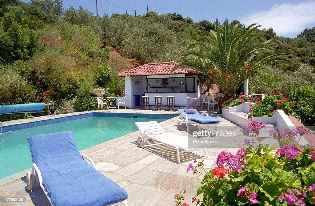 Pool-Terasse von Ivan Rebroff, Homestory, Insel Skopelos, Griech ...