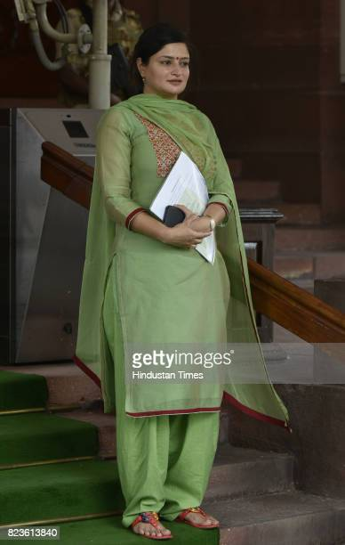 Poonamben Maadam BJP MP from Jamnagarat the Parliament during the Monsoon Session on July 27 2017 in New Delhi India