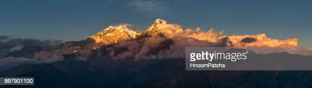 poonhill - annapurna south stock photos and pictures