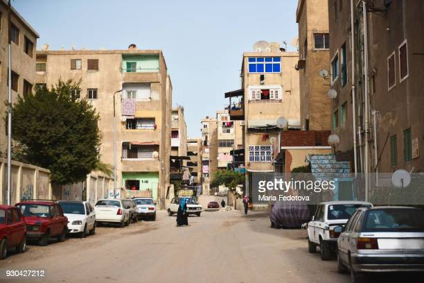 poor cairo street. editorial use - cairo stock pictures, royalty-free photos & images