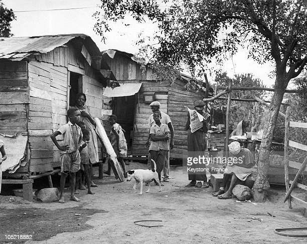 Poor District In Kingston In Jamaica In 1962