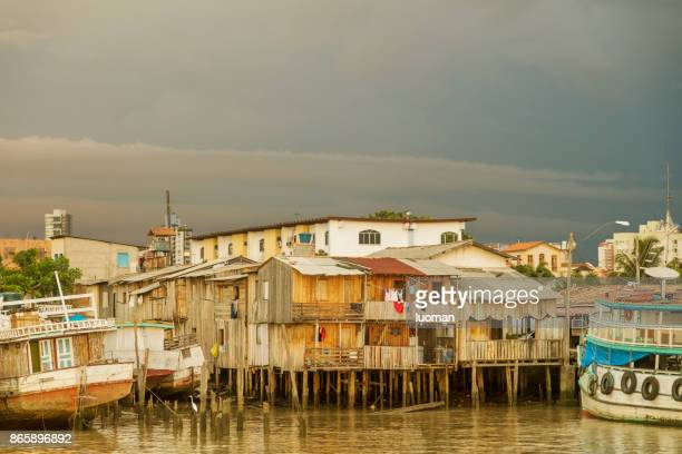 Poor houses along Guamu River in Belem