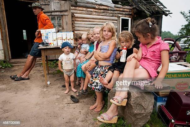 Poor Latvian children are receiving goods
