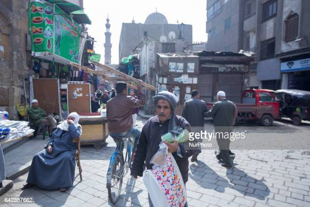A poor man walking in a street in Old Cairo Friday February 17 2017
