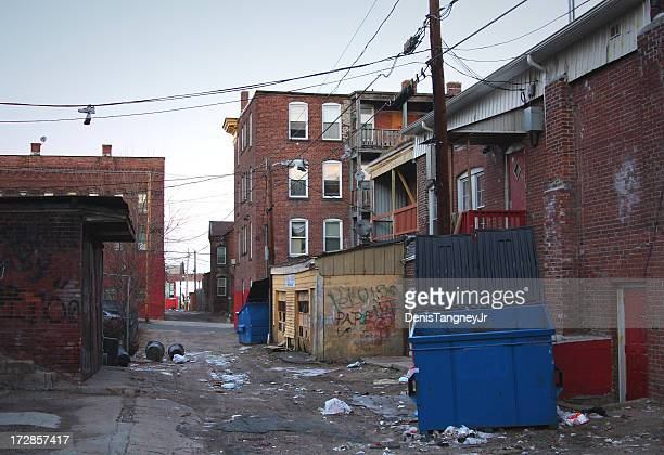 poor neighborhood - poverty stock photos and pictures