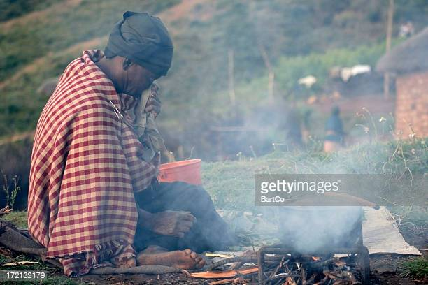 poor woman in lesotho - lesotho stock photos and pictures