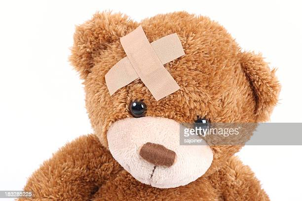 poorly bear - bandage stock photos and pictures