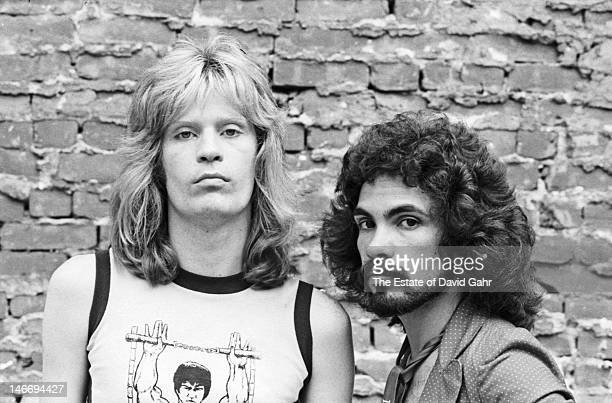 Pop and soul musical duo Hall and Oates pose for a portrait on August 3 1974 in New York City New York