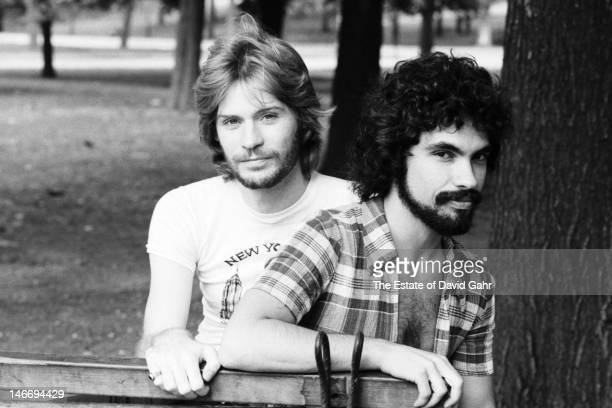 Pop and soul musical duo Hall and Oates pose for a portrait on August 23 1973 in New York City New York