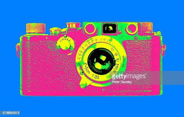 pop art vintage camera - pop art stock pictures, royalty-free photos & images
