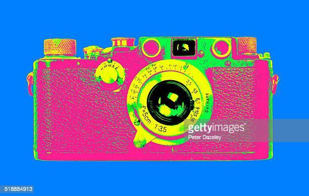 Pop art vintage camera