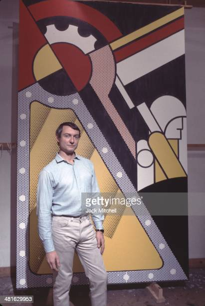 Pop artist Roy Lichtenstein in his New York studio in 1968