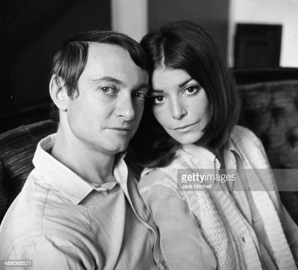 Pop artist Roy Lichtenstein with his wife Dorothy Herzka in his New York studio in 1968