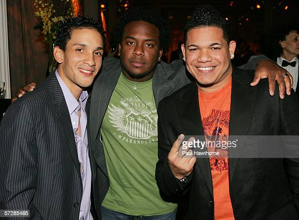 Pop artists Ammy David and Gio of Voz A Voz attend the BMI's 13th Annual Latin Awards at the 18th Street Pavilion on April 07 2006 in New York City
