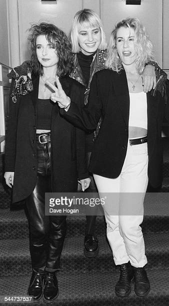 Pop band 'Bananarama' attending the BPI Awards in London February 10th 1987