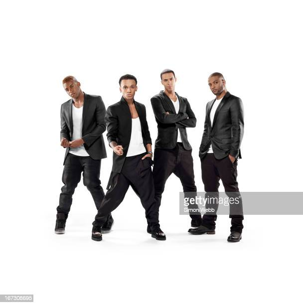Pop band JLS are photographed on November 21 2011 in London England