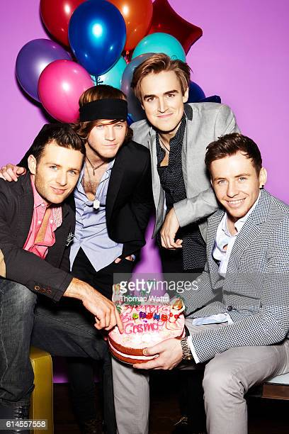 Pop band McFly are photographed for Cosmopolitan magazine on January 26 2012 in London England